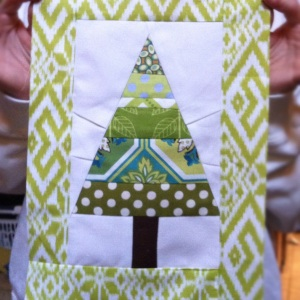 christmas tree paperpiecing